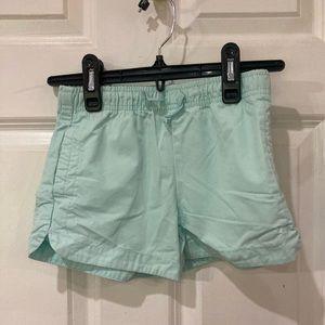 Carter's girl mint green short shorts size 6/6x